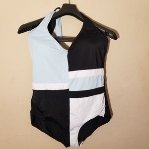 Swimsuits For All Plus Size 20W One Piece Halter C